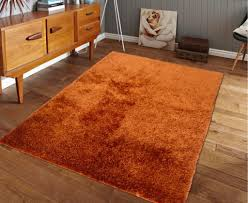 Rust Area Rug Tufted Rust Orange Solid Shag Area Rug Rug Addiction