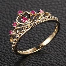 crown rings jewelry images Baroque palace style 925 sterling silver inlay ruby retro princess jpg