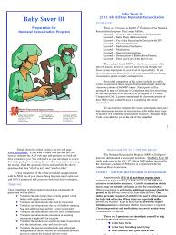 nrp baby saver iii june 2011 cardiopulmonary resuscitation infants