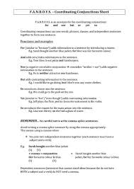 fanboys worksheet free worksheets library download and print