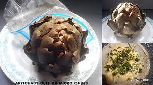 cuisine artichaut cuisson recette de cuire un artichaut au micro ondes