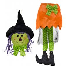 Halloween Wreath Witch Legs Plush Smiling Witch Wreath Accent Orange 9725268a Craftoutlet Com