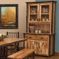 Hickory Dining Room Table by Rustic Hickory Log Buffet U0026 Hutch Cabinet By Fireside Lodge