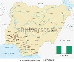 nigeria physical map nigeria map stock images royalty free images vectors