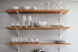 Open Kitchen Shelving Ideas White Wall Shelves For Effective Storage In Small Kitchen