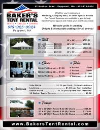 tent rentals prices services prices baker s tent rental pepperell ma