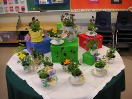31 days of gardening with children making tea cup planters for