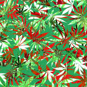 camo christmas wrapping paper cannabis fabric wallpaper gift wrap spoonflower