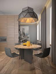 Geometric Pendant Light by 3 One Bedroom Homes With Sharp Geometric Decor