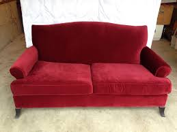 red velvet crate and barrel porter sofa in seattle letgo