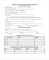 business application form new account application form sequoia