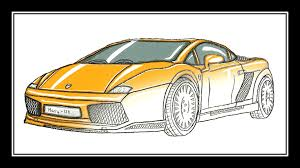 lamborghini sketch side view lamborghini speed drawing youtube
