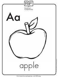 printable alphabet coloring pages increase vocabulary red apple