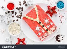 ugly christmas sweater cake recipe winter stock photo 525783862