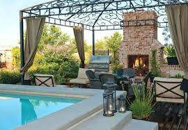 deck fireplace pool deck with brick outdoor fireplace pergola and