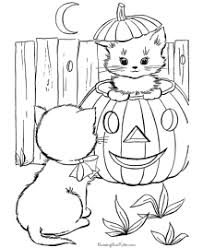halloween coloring pages cats dogs bats