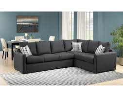 athina 2 piece left facing queen sofa bed sectional charcoal