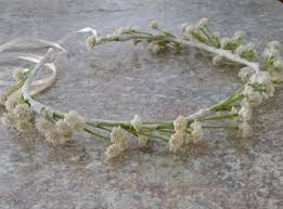 silk baby s breath bridal floral halo silk babys breath flower crown ivory