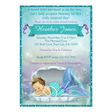 mermaid baby shower invitations adorable mermaid baby shower invitations 130 zazzle ca