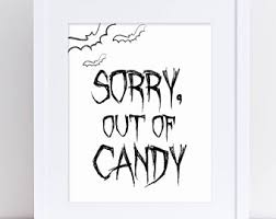 halloween candy sign trick treat sign halloween