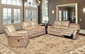 Power Reclining Sofa Set Living Juno Sand Leather Reclining Sofa Set Mjun 832p Sa