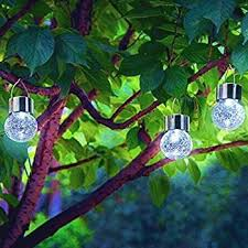 hanging solar lights garden decorations globe light