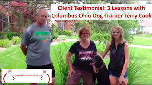 family garden columbus oh family dog training in columbus ohio with terry cook client
