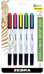 amazon com zebra eco zebrite double ended highlighters assorted