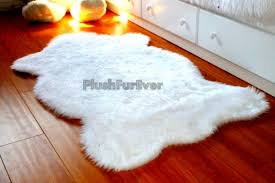 3 u0027 x 5 u0027 white faux fur rug single sheepskin rug fake animal skin