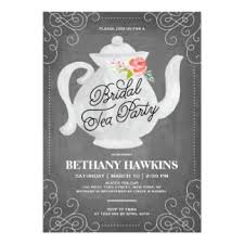 bridal tea party invitation bridal tea party bridal shower card black board design with teapot