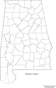 Blank Maps by Alabama Blank Map