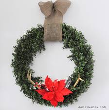 create beautiful trendy decor with boxwood wreaths made in a day