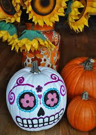 artelexia day of the dead diy 18 sugar skull pumpkins all