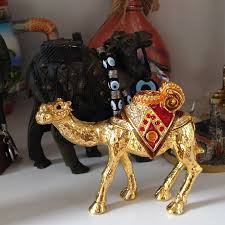 dubai middle east arabia desert camel metal golden plated ornament