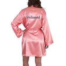bridesmaid satin robes personalized satin bridesmaid robe embroidered personalized brides