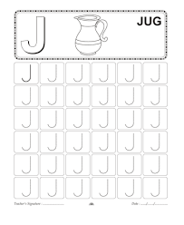capital letter writing j printable coloring worksheet
