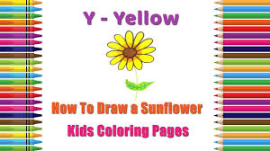 how to draw a sunflower coloring pages alphabets coloring pages