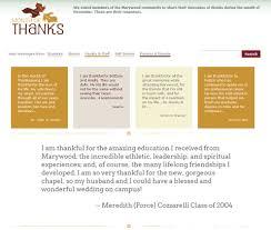 thanksgiving message for parents web design showcase marywood university