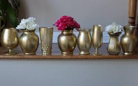 Metal Vases For Centerpieces by Custom Set Distressed Metallic Gold Vase Centerpieces Wedding