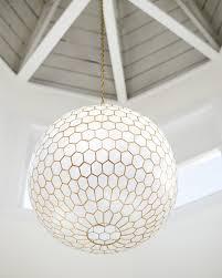 Round Capiz Chandelier Capiz Honeycomb Chandelier Serena U0026 Lily