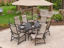 fabulous sling back patio dining sets vera cruz sling aluminum