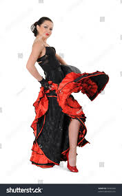 young elegance flamenco dancer action on stock photo 72320782
