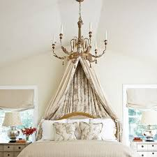 Ceiling Bed Canopy Dramatic Bed Canopies And Draperies Traditional Home