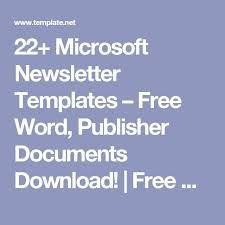 as 25 melhores ideias de newsletter templates word no pinterest