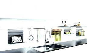 tringle de cuisine barre de cracdence cuisine cuisine avec credence inox credence