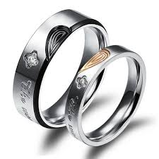 Wedding Rings Sets His And Hers by Jewels Gullei Com Personalized Promise Rings Engraved Titanium
