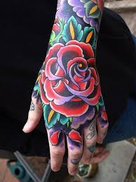 traditional style rose tattoo on hand tattoos book 65 000