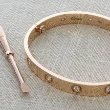 love bracelet rose gold images Cartier 18kt rose gold diamond love bracelet size 17 jpg