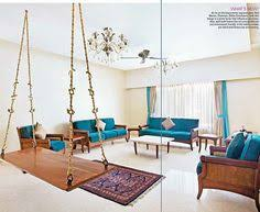 Beautiful Indian Homes Interiors Traditional Indian Homes Wooden Swings Tapestry And Swings