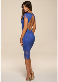 backless dress gold backless lace midi in blue